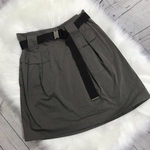 Gunex high waisted belted skirt